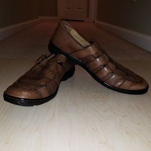 Johnston & Murphy Brown Leather Fisherman Size 10
